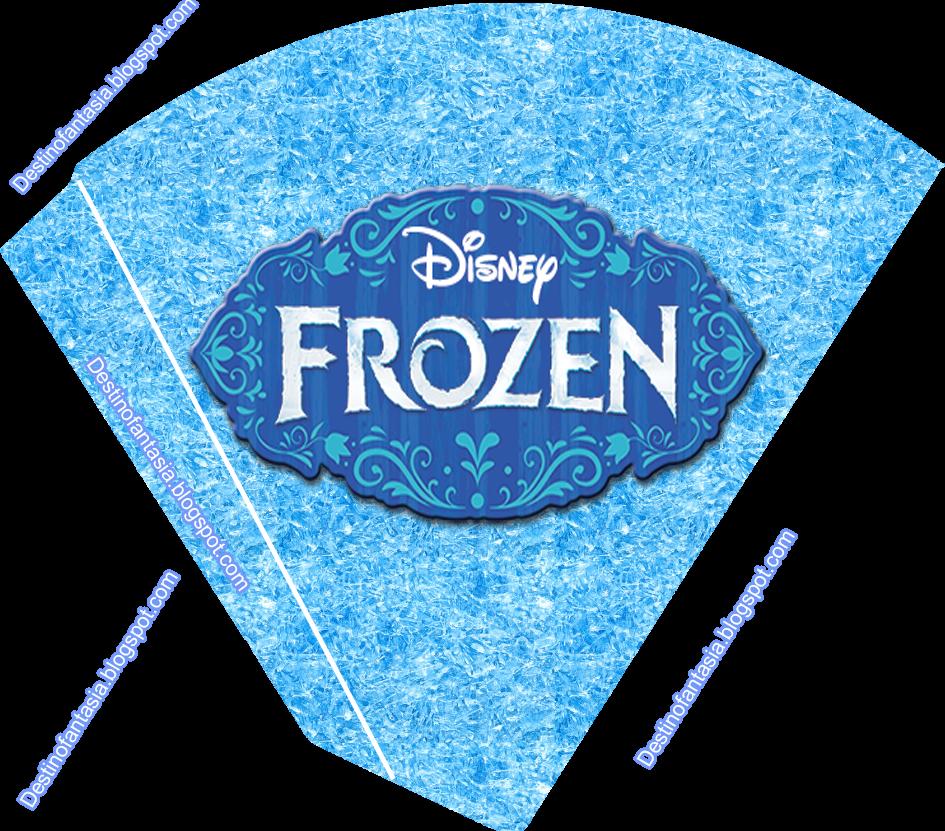 cone guloseimas embalagem festa frozen