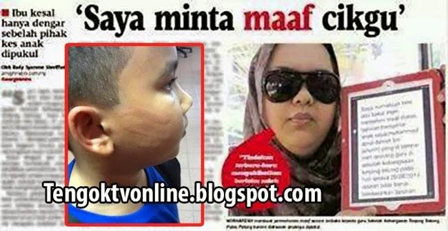 Ibu Mohon Maaf Pada Cikgu Yang Dituduh Menampar Anaknya (4 Gambar)