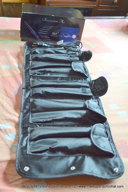Irresistible me 8-in-1 Sapphire Hair Curling Kit Bag
