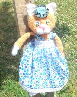 Вязанная игрушка Кошка Марфуша