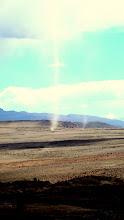 Sand tornado at 5000 metres