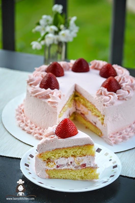 Fresh Fruit Sponge Cake
