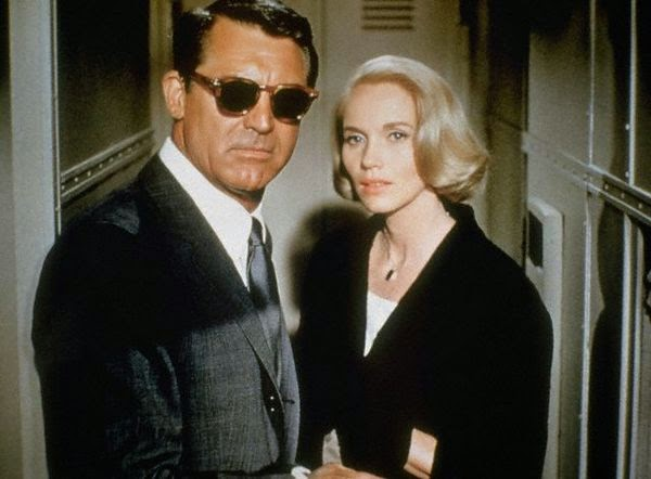Eva Marie Saint, Cary Grant, Alfred Hitchcock,