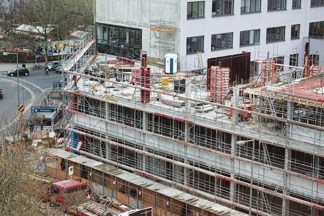 Baustelle Erweiterung AUFBAU HAUS durch den Neubau Prinzenstraße 84, 10969 Berlin, Moritzplatz, Oranienstraße, 17.03.2014