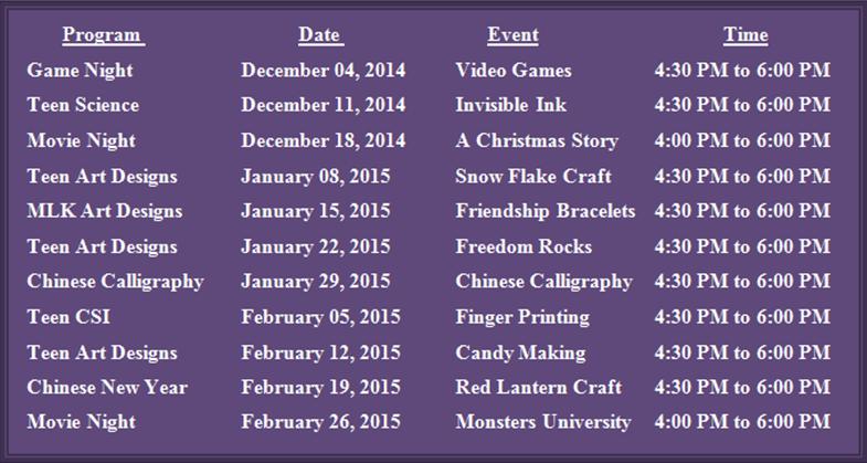http://library-memorialpark.blogspot.com/2014/11/teen-hangout-schedule.html