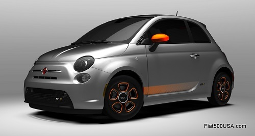 Fiat 500e in Argento with e-Sport Package