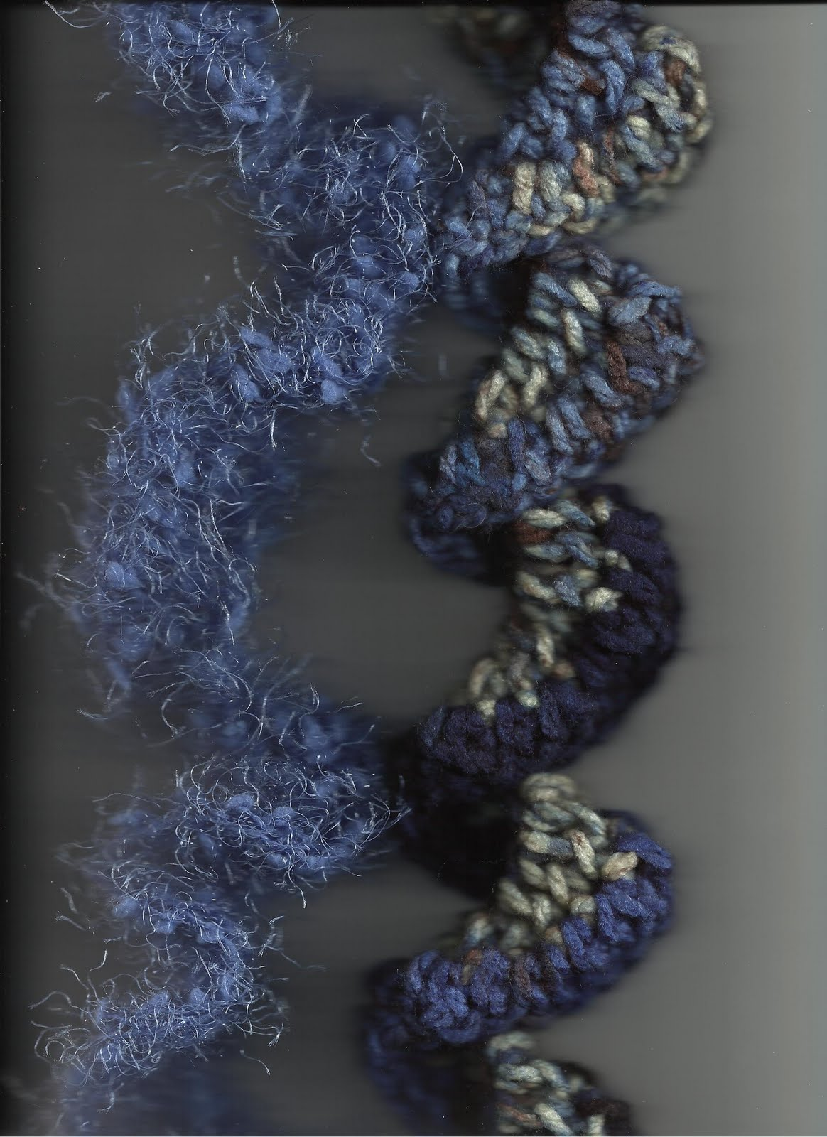 treasures made from yarn ruffle scarves