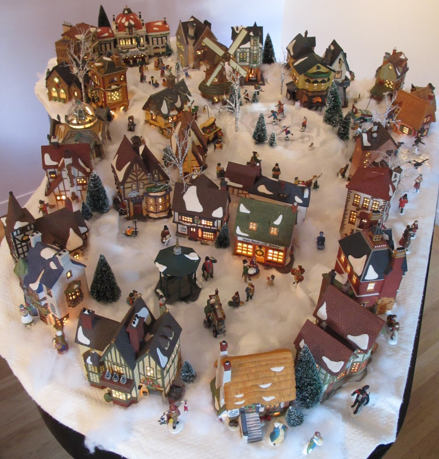 Department 56 dickens village display ideas -  Village That Grew Organically Without Building Codes Or A Planning Commission So My Streets Are Not Laid Out In A Grid Instead Most Of The Activity