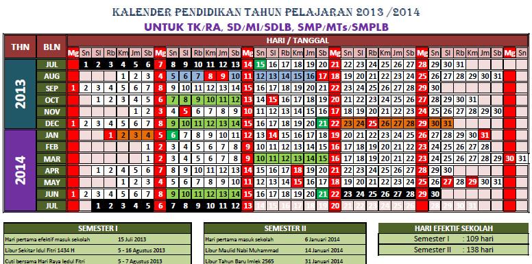 Download Kalender Pendidikan 2013-2014
