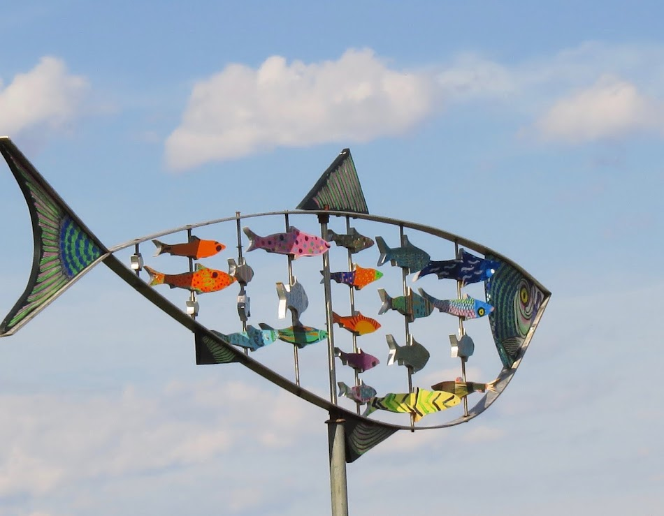 Fish Scupture in Lubec