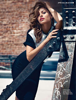 Eva Mendes strokes a pose for Glamour France November 2012 Issue