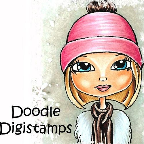 Doodle digital stamps