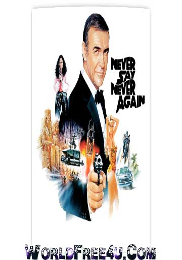 Poster Of Never Say Never Again (1983) In Hindi English Dual Audio 300MB Compressed Small Size Pc Movie Free Download Only At worldfree4u.com