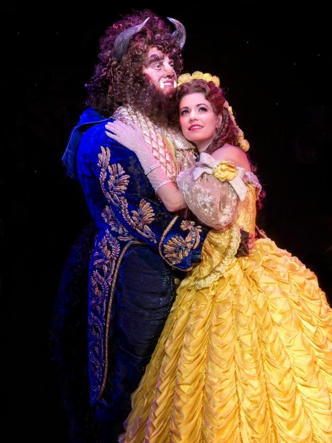 Beast and Belle in Beauty and the Beast musical -- livingmividaloca.com #SCFTA
