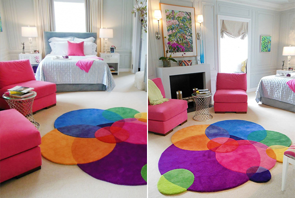 D co des tapis tout fous multicolores et d structur s for Tapis decoratif pour salon