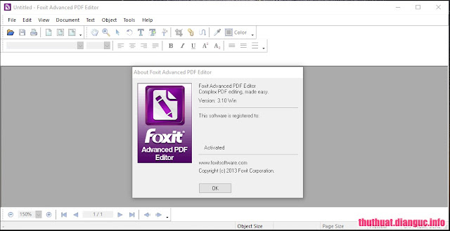 Download Foxit Advanced PDF Editor 3.10 Full crack – Chỉnh sửa file PDF