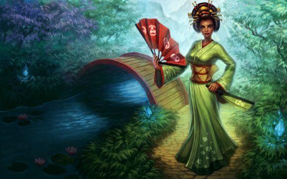 Katie de Souza ilustrações fantasia games mulheres Sakura