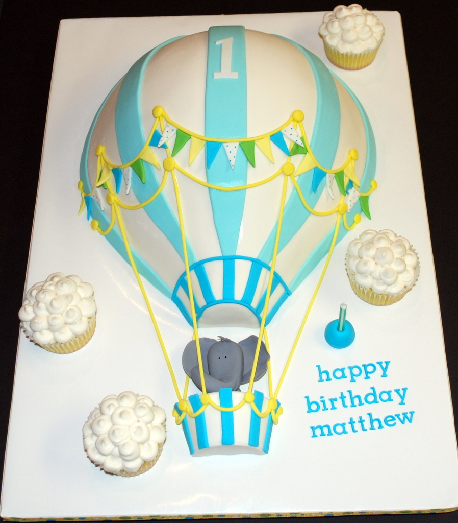 The Bakery Next Door Hot Air Balloon Birthday Cake