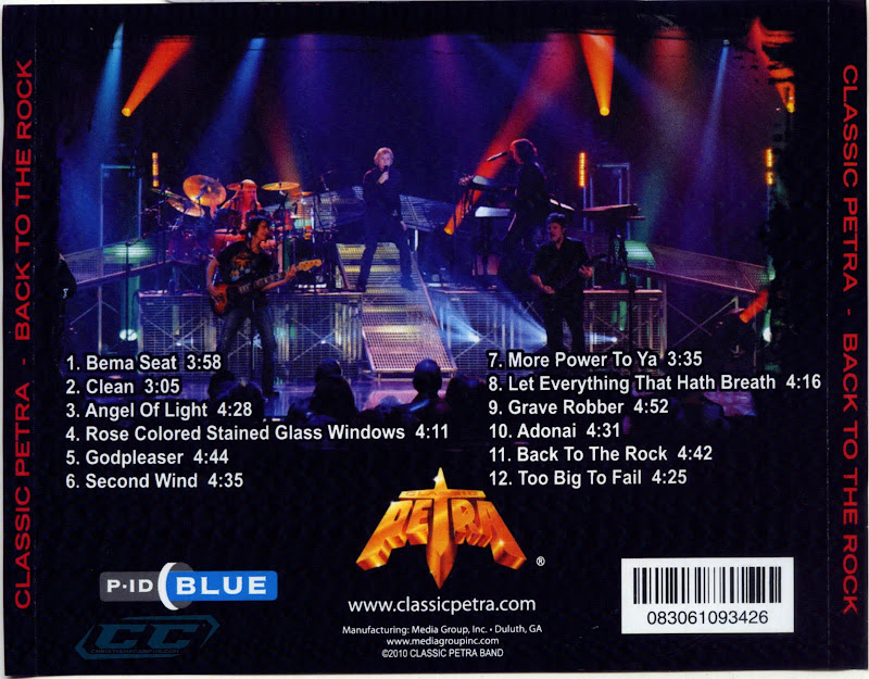 Petra - Back to the Rock Live 2011 DvDRip Tracklisting and lyrics