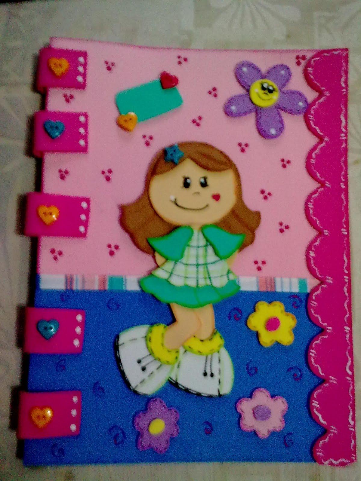 Creaciones isabel libretas decoradas for Manualidades decoracion infantil