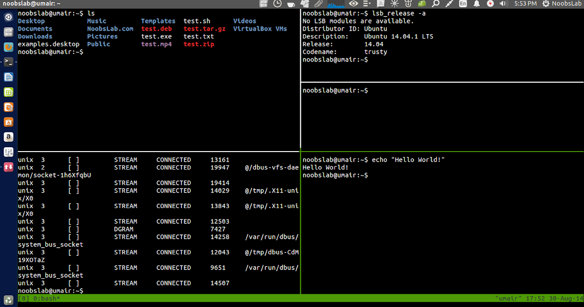 "Split Ubuntu(Gnome) Terminal Screen And Work Like A Professional Using ""Tmux"" Or ""Screen"""