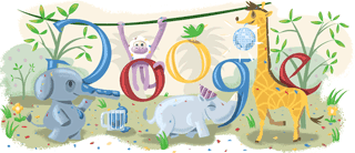 New Year 2009 Google Doodle
