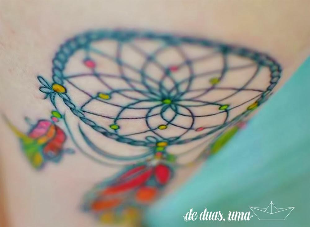 tattoo feminina  apanhador de sonhos  deduasuma