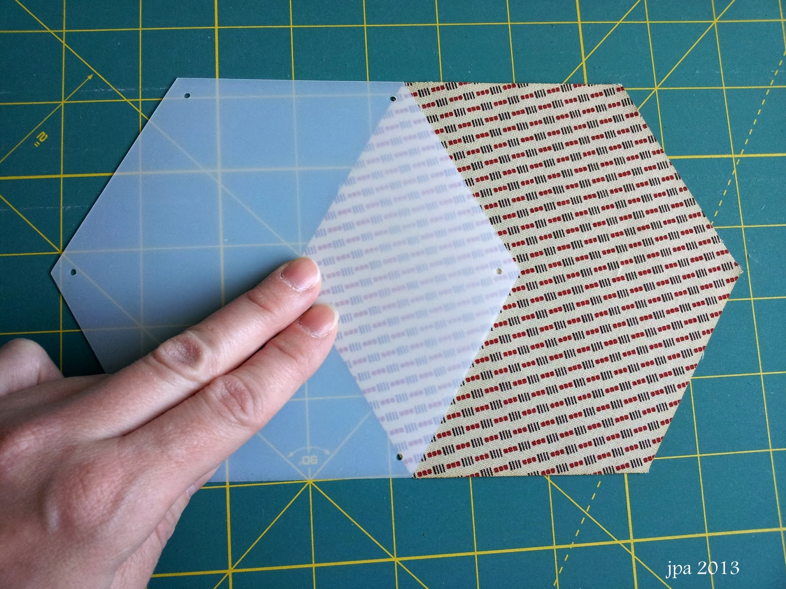 English paper piecing modafabrics for Hexagon quilt template plastic