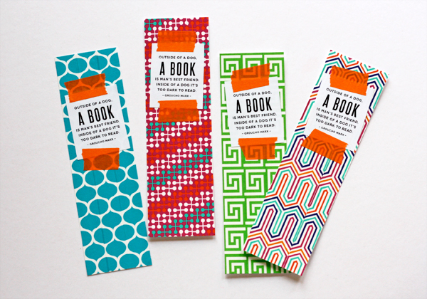 diy jonathan adler tape bookmarks