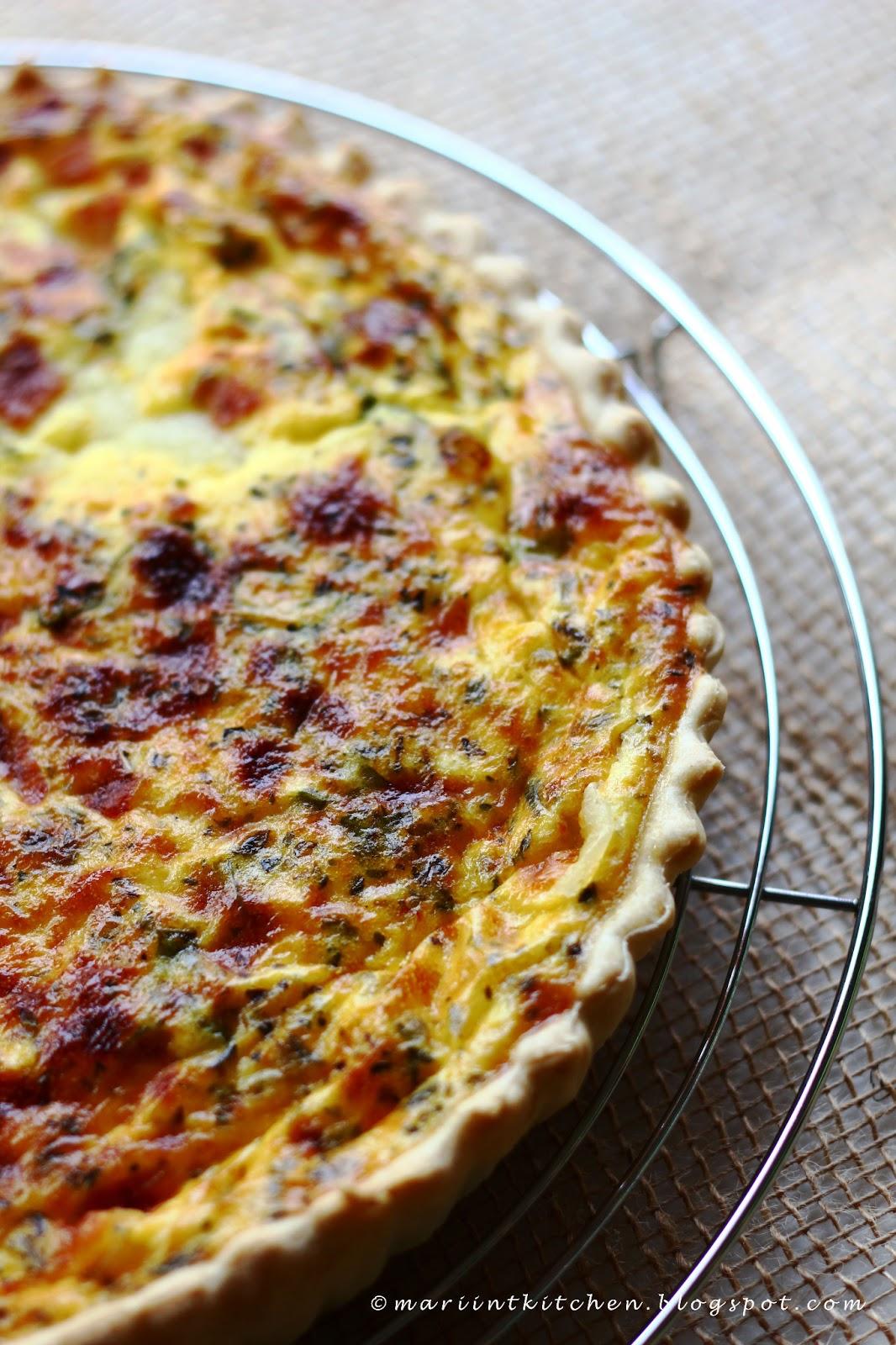 torta salata con pomodoro, mozzarella e...birra!!