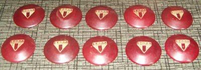 Meus botões mais antigos. Futebol Miniatura da Santa Maria 1940´s