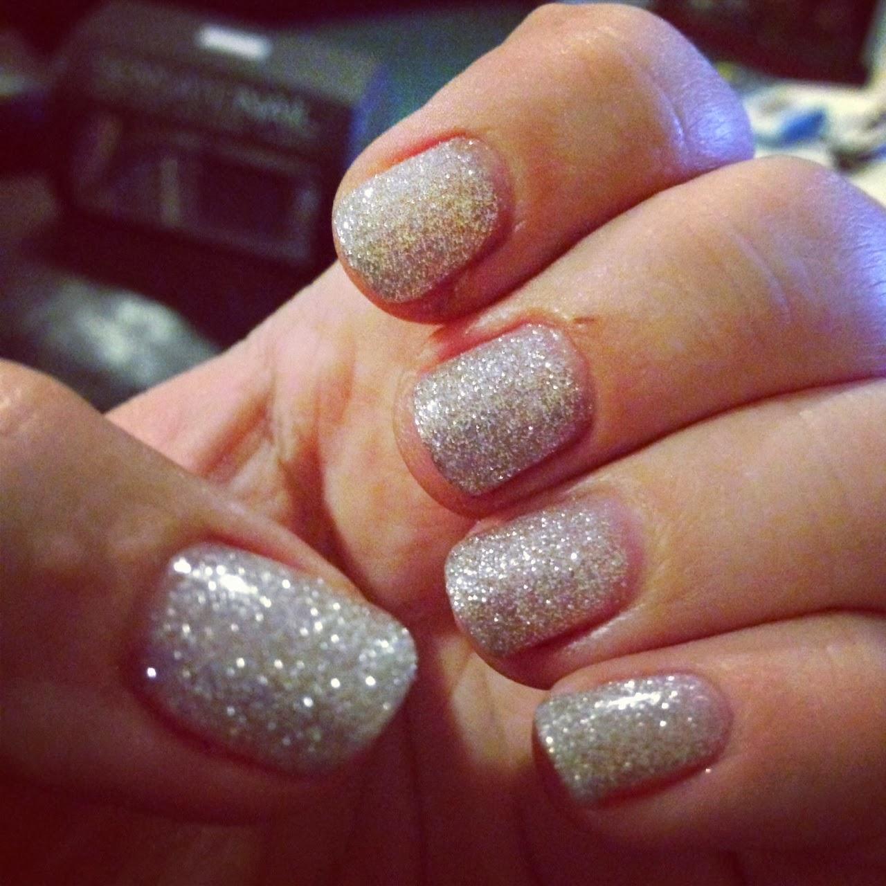 Sensationail Gel Nail Polish (silver Glitter) | Splendid Wedding Company