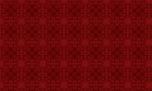 Haunted Tile Red Pattern