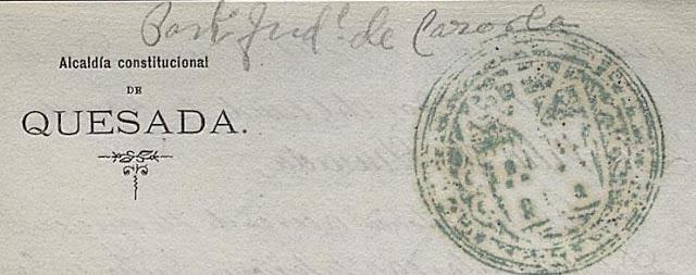 Modificación del escudo de Quesada