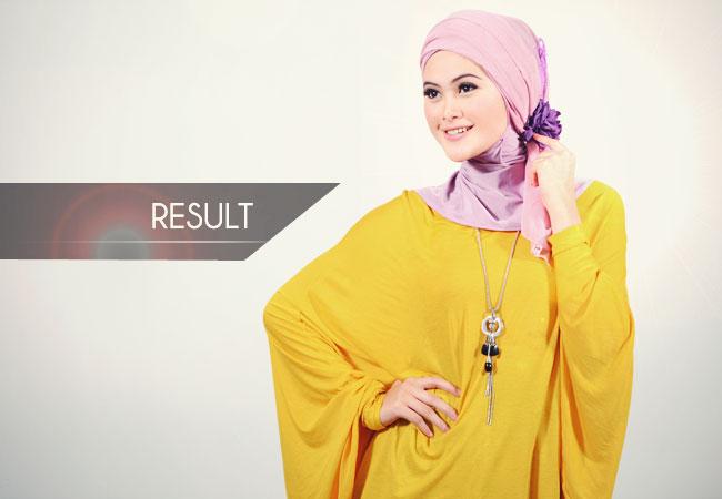 Turban Style dengan Jilbab Segiempat | Tutorial Hijab
