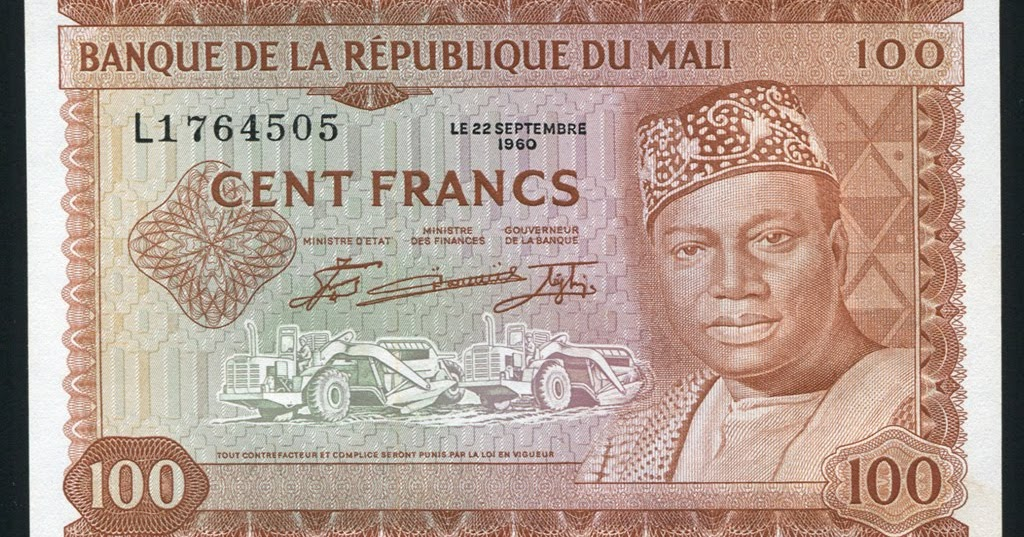 Mali Money 100 Francs Banknote Of 1960 Modibo Ke 239 Ta