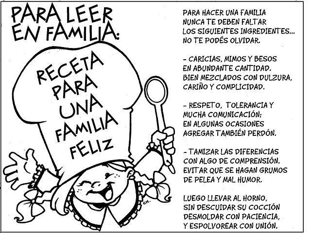 RECETA PARA UNA FAMILIA FELIZ