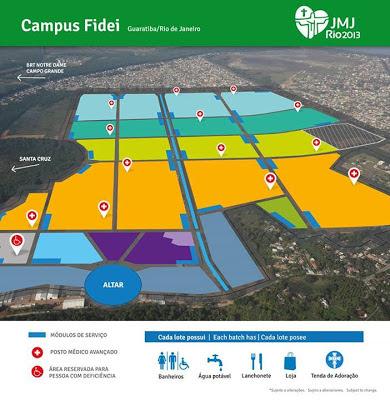 #JMJRio2013: Conheça a estrutura do Campus Fidei em Guaratiba