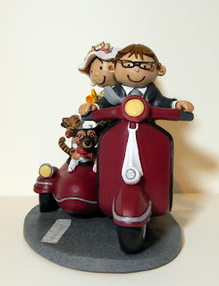 orme magiche cake topper cartoon scultura torta nuziale decorazione sposini sposi statuette personalizzate