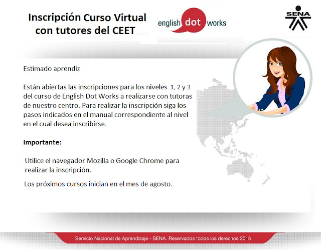 Inscripciones Curso de Inglés Virtual