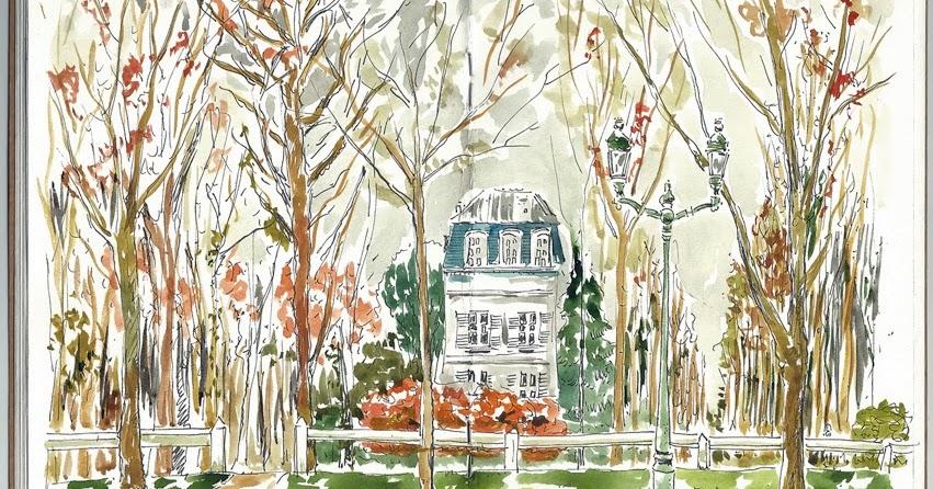 Urban sketchers paris couleurs automnales dans les yvelines for Que visiter dans les yvelines