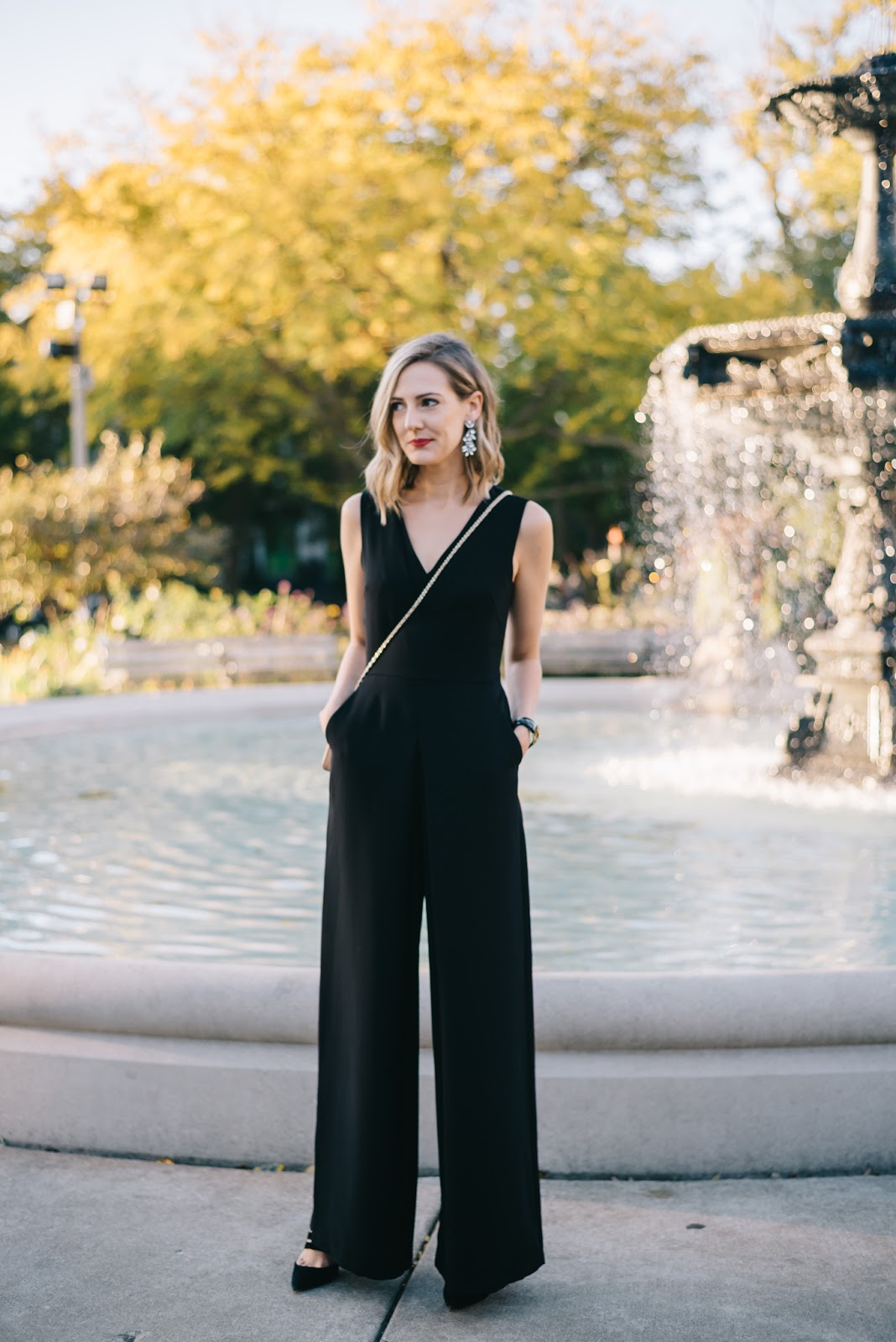 vince wide leg jumpsuit
