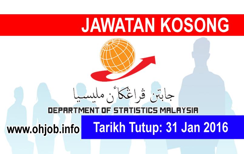 Jawatan Kerja Kosong Jabatan Perangkaan Malaysia logo www.ohjob.info januari 2016