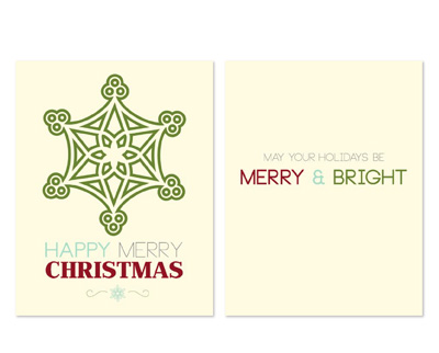Happy Merry Greeting Card Template