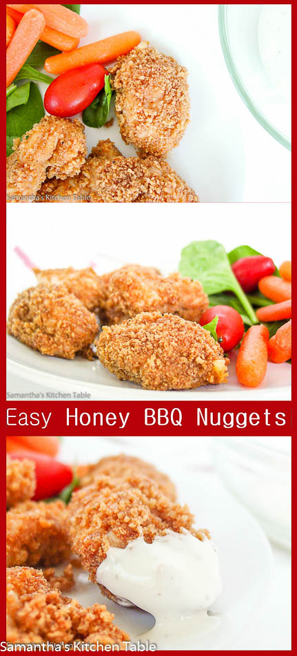 Easy Honey BBQ Chicken Nuggets