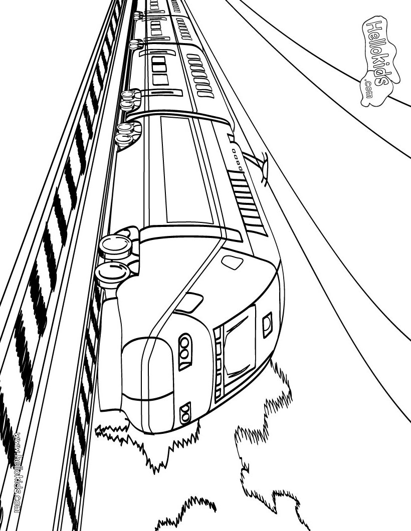 Coloring pages trains for kids - Big Train Coloring Pages