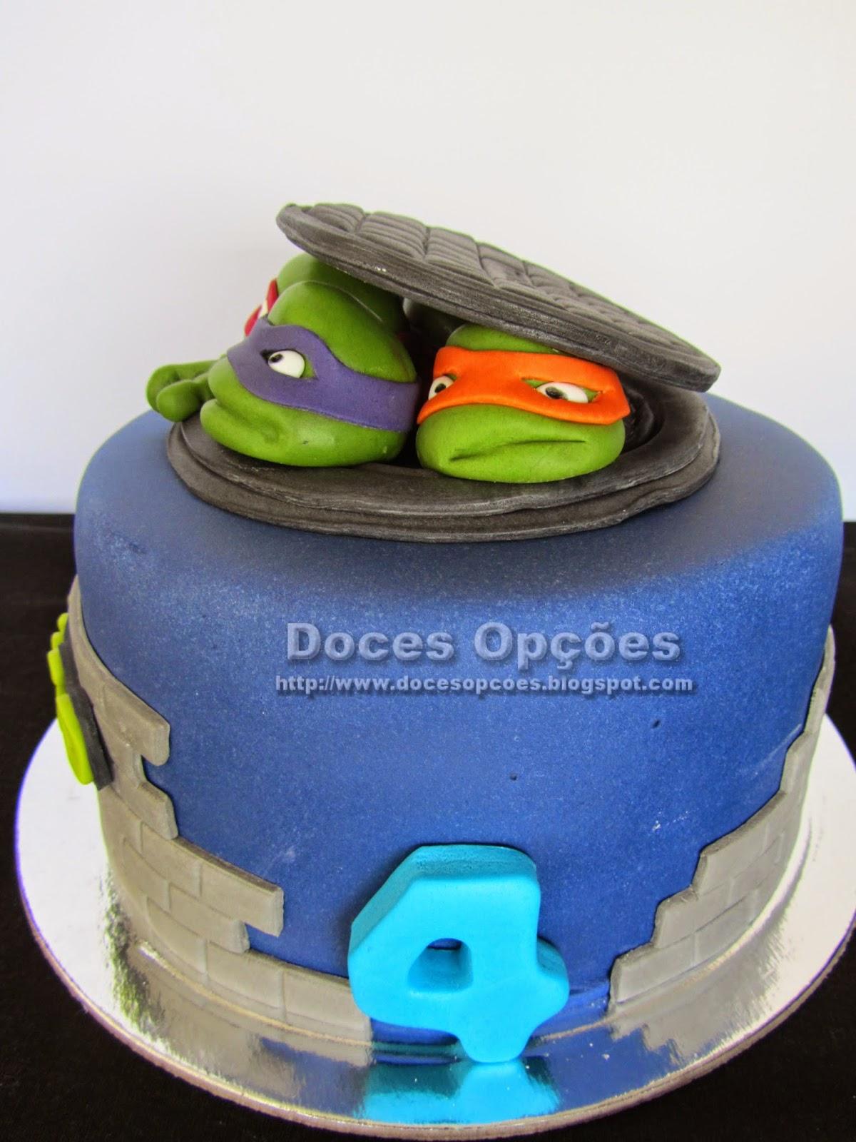 Gâteau d'anniversaire de Ninja Turtles