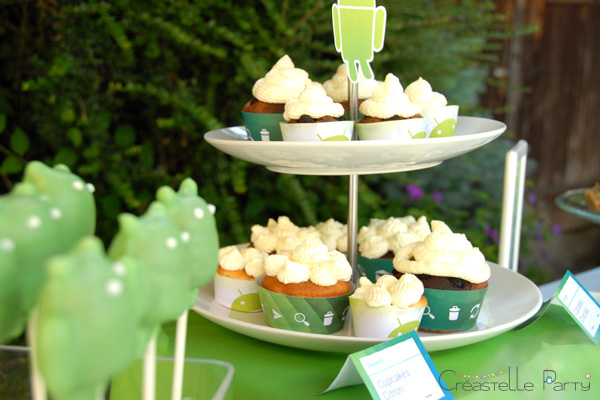 table de douceurs android / android sweet table - cupcakes