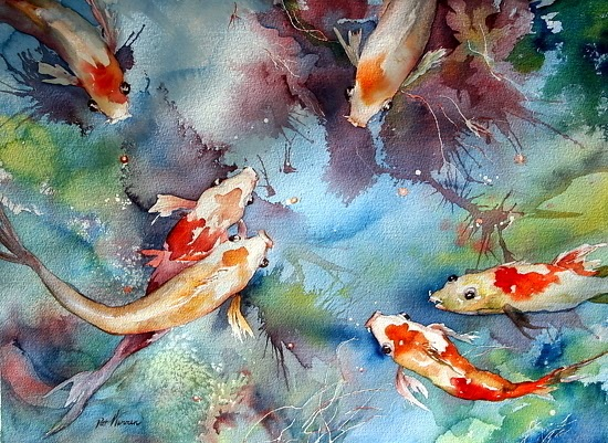 Where art lives gallery artists group blog sea life koi for Sea life paintings artists