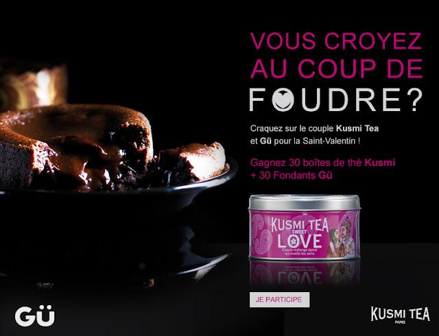 30 boites de tea Kusmi + 30 fondants Gü